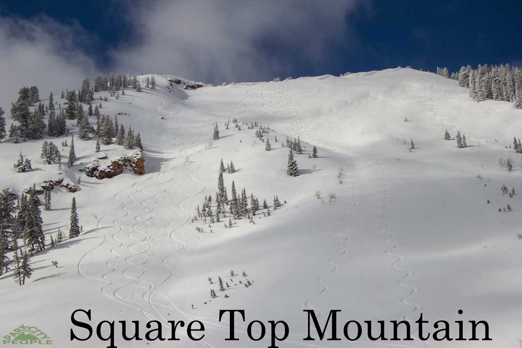 Backcountry skiing Square Top Mountain Park City