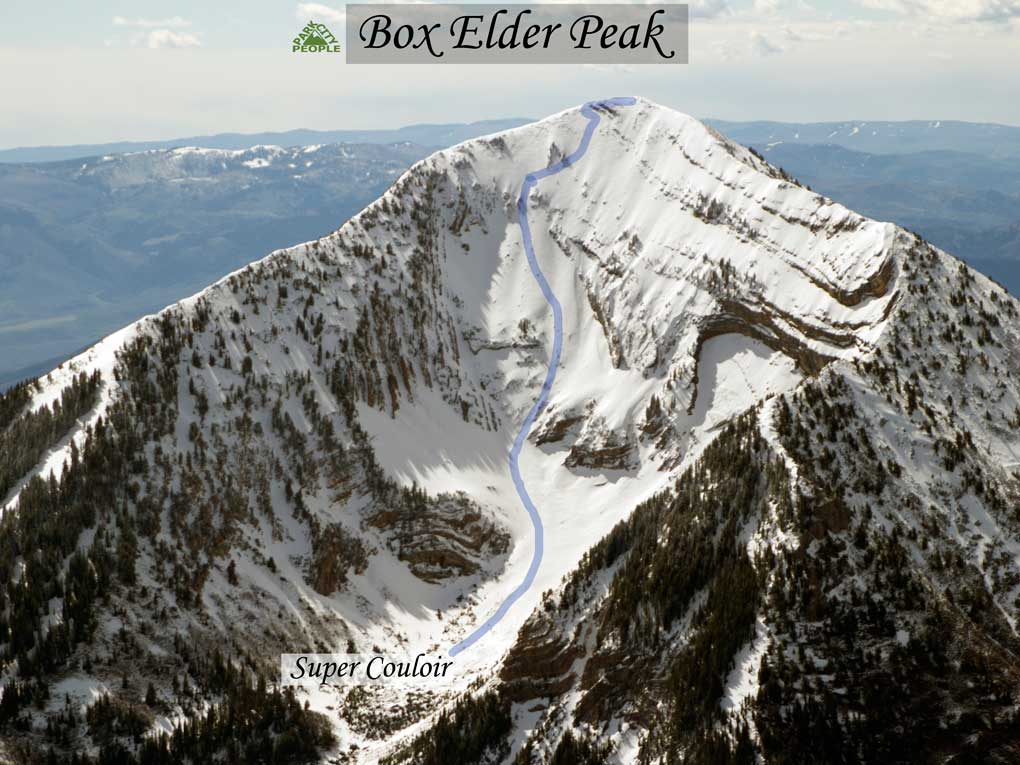 Backcountry Skiing Box Elder Peak Super Couloir